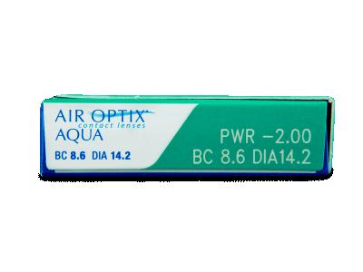 Air Optix Aqua (3lentile) - vizualizare parametrii