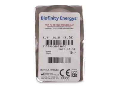 Biofinity Energys (6 lentile) - vizualizare ambalaj