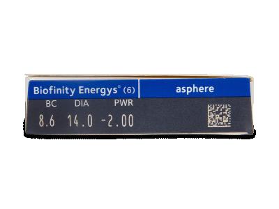 Biofinity Energys (6 lentile) - vizualizare parametrii