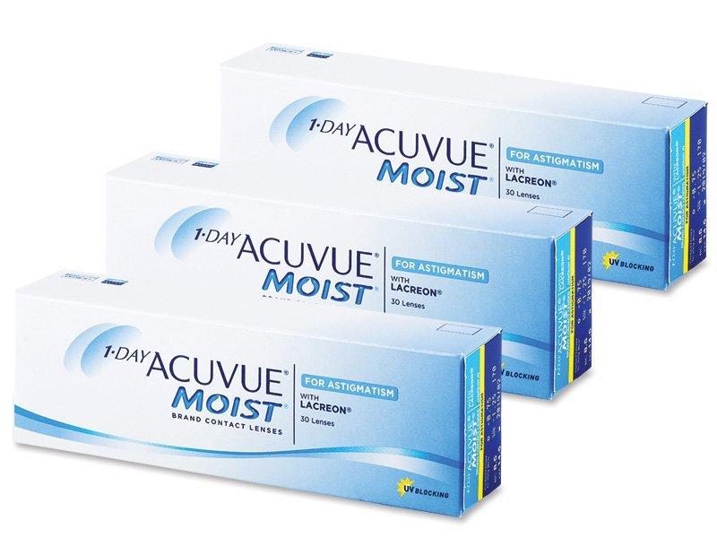 1 Day Acuvue Moist for Astigmatism (90lentile) - Lentile de contact pentru astigmatism