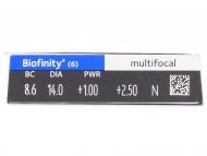Biofinity Multifocal (6lentile) - vizualizare parametrii