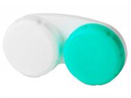 Suport pentru lentile de contact - diferite culori și modele - Suport pentru lentile verde&alb (cu semnul R)