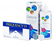 Frequency 55 (6 lentile) + solutie Gelone 360ml