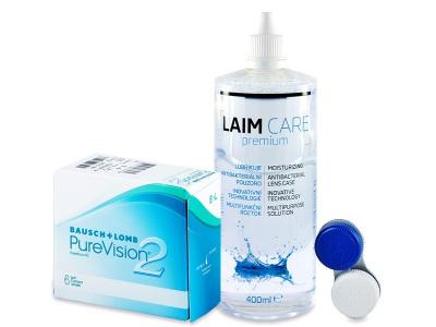 PureVision 2 (6lentile) + soluție Laim-Care400ml