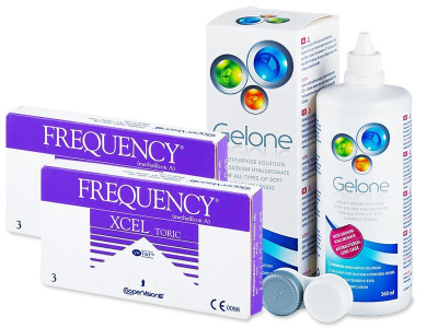 FREQUENCY XCEL TORIC (2x3lentile) +soluție Gelone 360ml