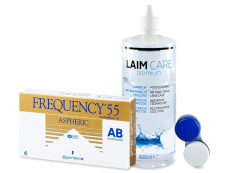 Frequency 55 Aspheric (6lentile) + soluție Laim-Care400ml
