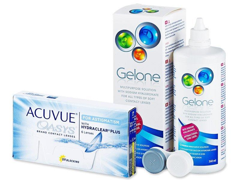 Acuvue Oasys for Astigmatism (6lentile) +soluțieGelone360ml - Pachet avantajos