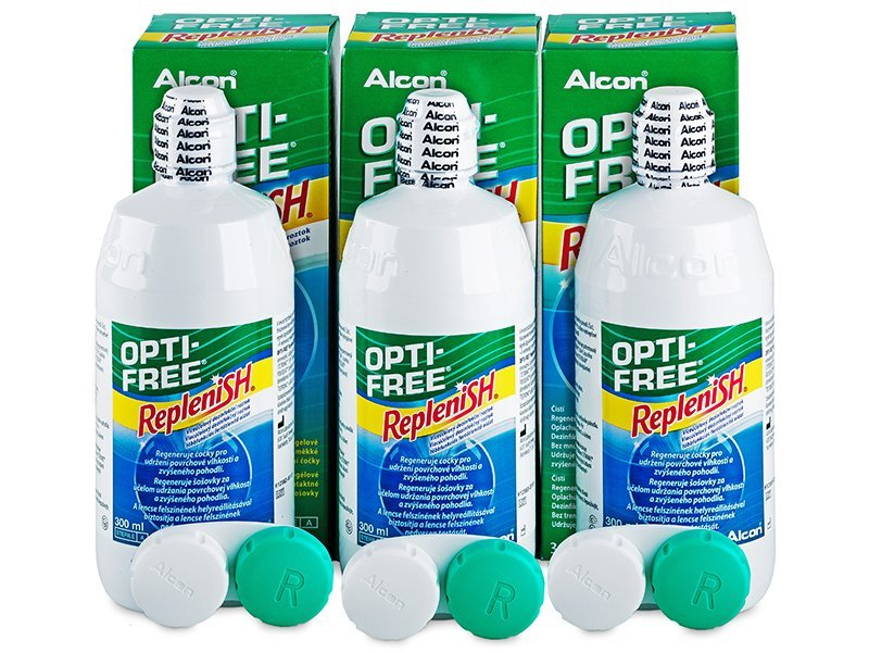Soluție OPTI-FREE RepleniSH 3 x 300 ml  - Pachet economic triplu-soluții