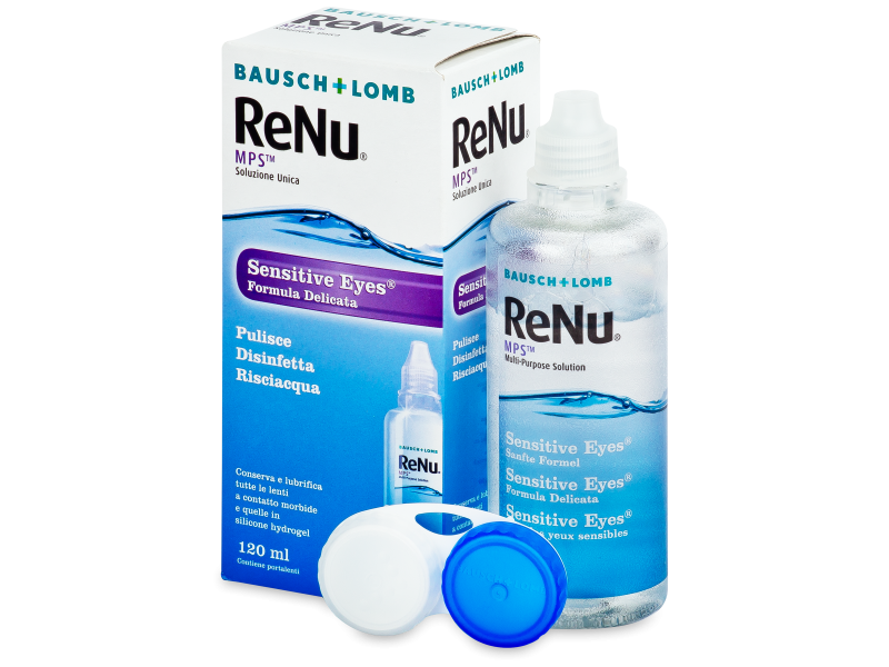 Soluție ReNu MPS Sensitive Eyes 120 ml  - soluție de curățare