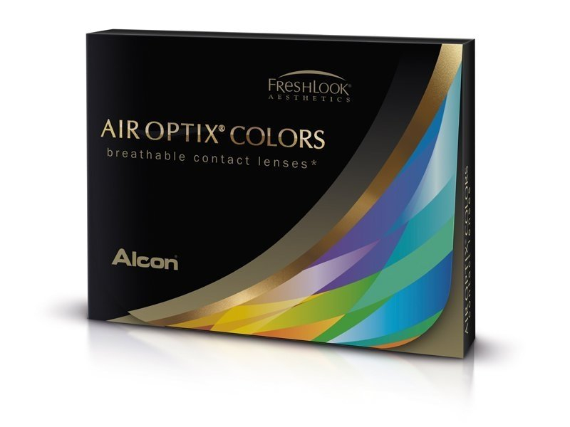 Air Optix Colors - Green - fără dioptrie (2 lentile)