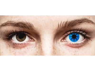 ColourVUE Crazy Lens - Blue Star - fără dioptrie (2 lentile)