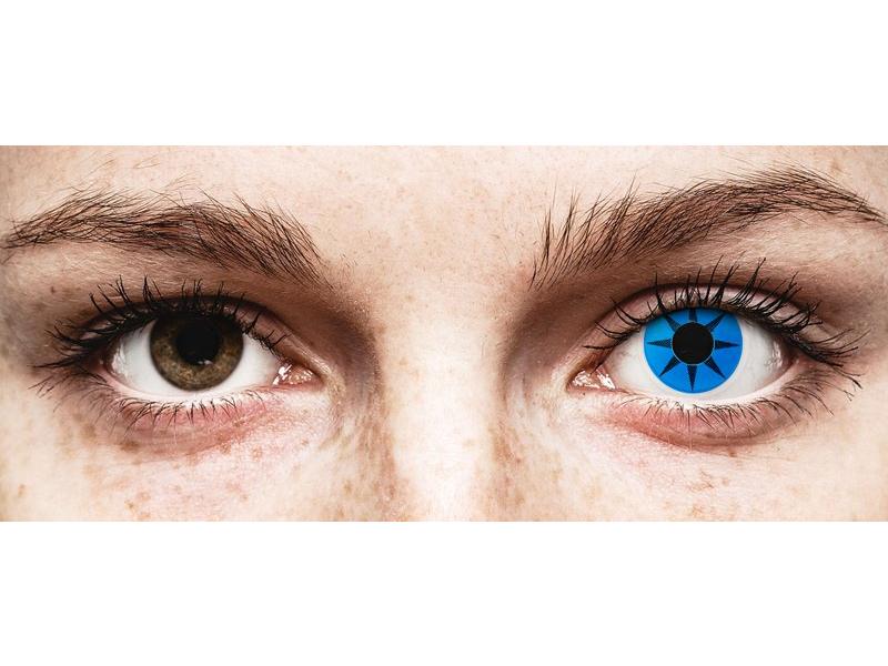 ColourVUE Crazy Lens - Blue Star - fără dioptrie (2 lentile) - ColourVUE Crazy Lens - Blue Star - fără dioptrie (2 lentile)
