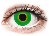 Lentile de contact Maxvue Vision - ColourVUE Crazy Lens - Hulk Green - fără dioptrie (2 lentile)