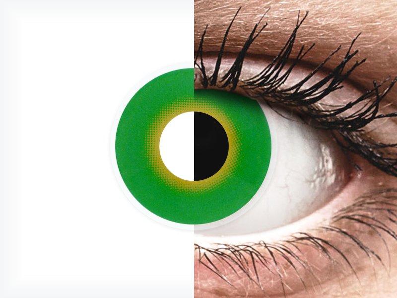 ColourVUE Crazy Lens - Hulk Green - fără dioptrie (2 lentile) - ColourVUE Crazy Lens - Hulk Green - fără dioptrie (2 lentile)