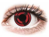 Lentile de contact roșii - fără dioptrie - ColourVUE Crazy Lens - Kakashi - fără dioptrie (2 lentile)