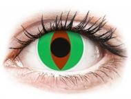 Lentile de contact verzi - fără dioptrie - ColourVUE Crazy Lens - Raptor - fără dioptrie (2 lentile)