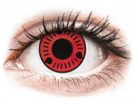 Lentile de contact roșii - fără dioptrie - ColourVUE Crazy Lens - Sasuke - fără dioptrie (2 lentile)