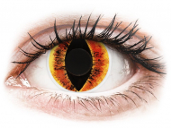 Lentile de contact galbene - fără dioptrie - ColourVUE Crazy Lens - Saurons Eye - fără dioptrie (2 lentile)