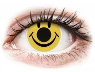 Lentile de contact galbene - fără dioptrie - ColourVUE Crazy Lens - Smiley - fără dioptrie (2 lentile)