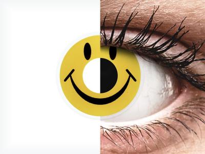 ColourVUE Crazy Lens - Smiley - fără dioptrie (2 lentile)
