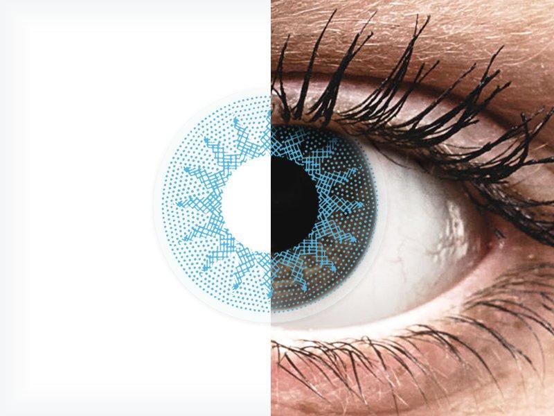 ColourVUE Crazy Lens - Solar Blue - fără dioptrie (2 lentile)