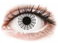 Lentile colorate speciale - fără dioptrie - ColourVUE Crazy Lens - Spider - fără dioptrie (2 lentile)