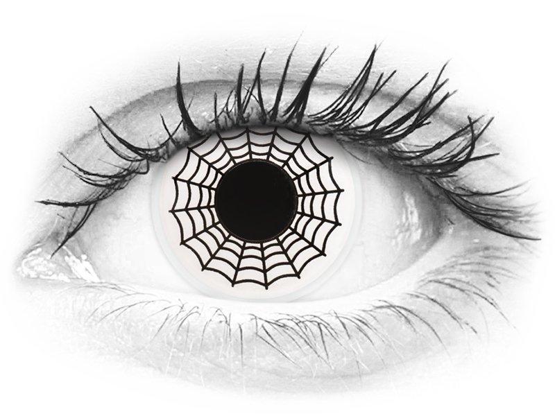 ColourVUE Crazy Lens - Spider - fără dioptrie (2 lentile)