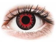 Lentile de contact roșii - fără dioptrie - ColourVUE Crazy Lens - Volturi - fără dioptrie (2 lentile)