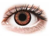 Lentile de contact portocalii - fără dioptrie - ColourVUE Crazy Lens - Vampire - fără dioptrie (2 lentile)
