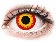 Lentile de contact roșii - fără dioptrie - ColourVUE Crazy Lens - Wildfire - fără dioptrie (2 lentile)