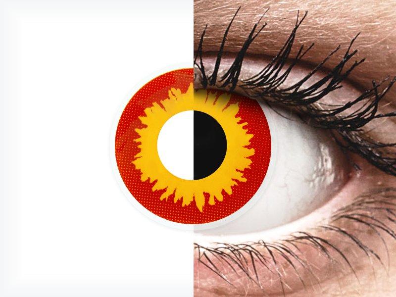 ColourVUE Crazy Lens - Wildfire - fără dioptrie (2 lentile)