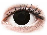 Lentile de contact Maxvue Vision - ColourVUE Crazy Lens - BlackOut - cu dioptrie (2 lentile)