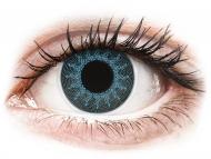 Lentile colorate speciale - cu dioptrie - ColourVUE Crazy Lens - Solar Blue - cu dioptrie (2 lentile)