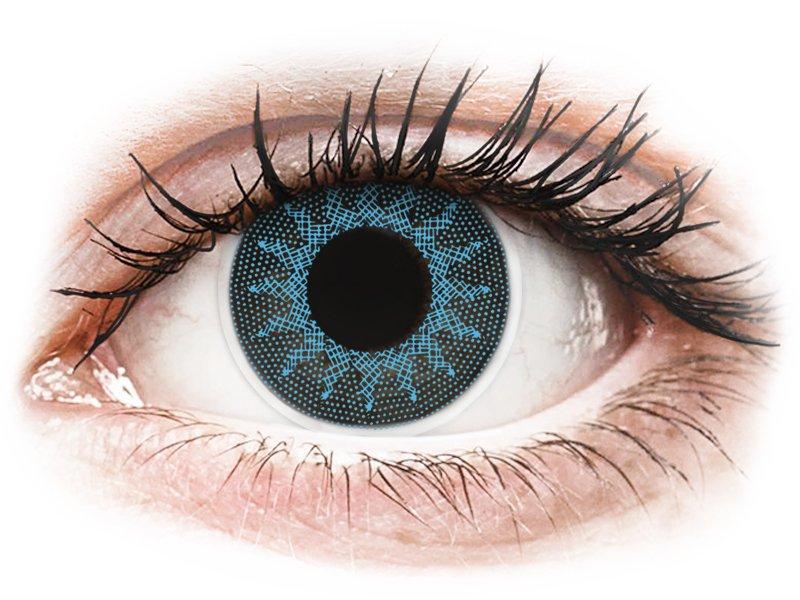 ColourVUE Crazy Lens - Solar Blue - cu dioptrie (2 lentile) - Lentile colorate