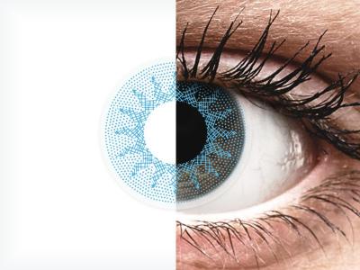 ColourVUE Crazy Lens - Solar Blue - cu dioptrie (2 lentile)