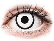 Lentile de contact albe - cu dioptrie - ColourVUE Crazy Lens - White Zombie - cu dioptrie (2 lentile)