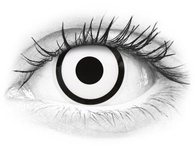 ColourVUE Crazy Lens - White Zombie - cu dioptrie (2 lentile)
