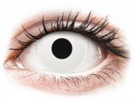 Lentile de contact albe - cu dioptrie - ColourVUE Crazy Lens - WhiteOut - cu dioptrie (2 lentile)