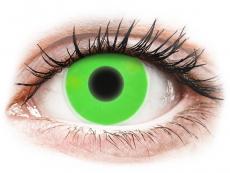 ColourVUE Crazy Glow Green - fără dioptrie (2lentile)