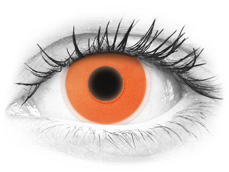 ColourVUE Crazy Glow Orange - fără dioptrie (2lentile) - ColourVUE Crazy Glow Orange - fără dioptrie (2lentile)