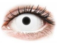 Lentile de contact Maxvue Vision - ColourVUE Crazy Glow White - fără dioptrie (2lentile)