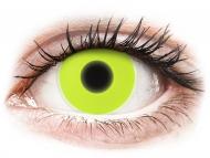 Lentile de contact Maxvue Vision - ColourVUE Crazy Glow Yellow - fără dioptrie (2lentile)