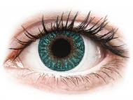 Lentile de contact albastre - cu dioptrie - TopVue Color - Turquoise - cu dioptrie (2 lentile)