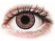 Lentile de contact Maxvue Vision - ColourVUE Elegance Pink - fără dioptrie (2lentile)