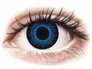 Lentile de contact albastre - fără dioptrie - ColourVUE Eyelush Aqua - fără dioptrie (2lentile)