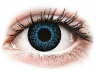 Lentile de contact albastre - cu dioptrie - ColourVUE Eyelush Blue - cu dioptrie (2lentile)