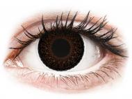 Lentile de contact maro - cu dioptrie - ColourVUE Eyelush Choco - cu dioptrie (2lentile)