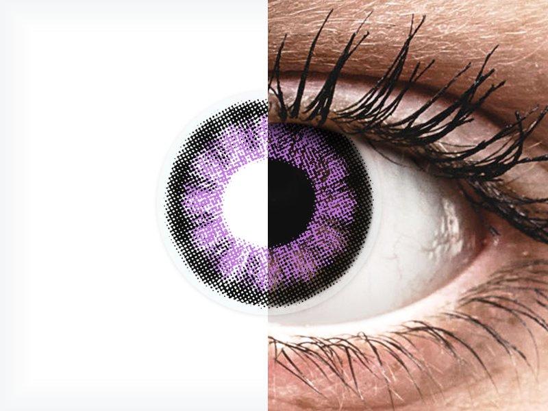 ColourVUE BigEyes Ultra Violet - fără dioptrie (2lentile) - ColourVUE BigEyes Ultra Violet - fără dioptrie (2lentile)