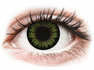 Lentile de contact Maxvue Vision - ColourVUE BigEyes Party Green - fără dioptrie (2 lentile)