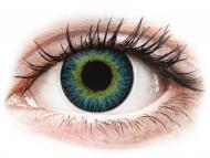 Lentile de contact albastre - fără dioptrie - ColourVUE Fusion Yellow Blue - fără dioptrie (2lentile)